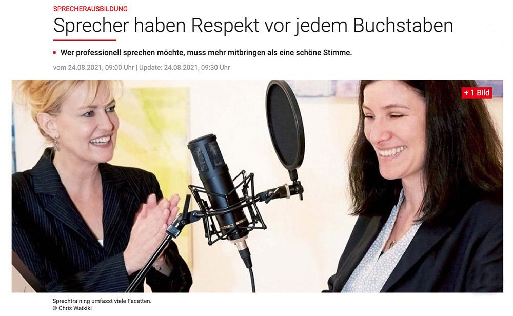 Sprecherausbildung – Sprecher haben Respekt vor jedem Buchstaben